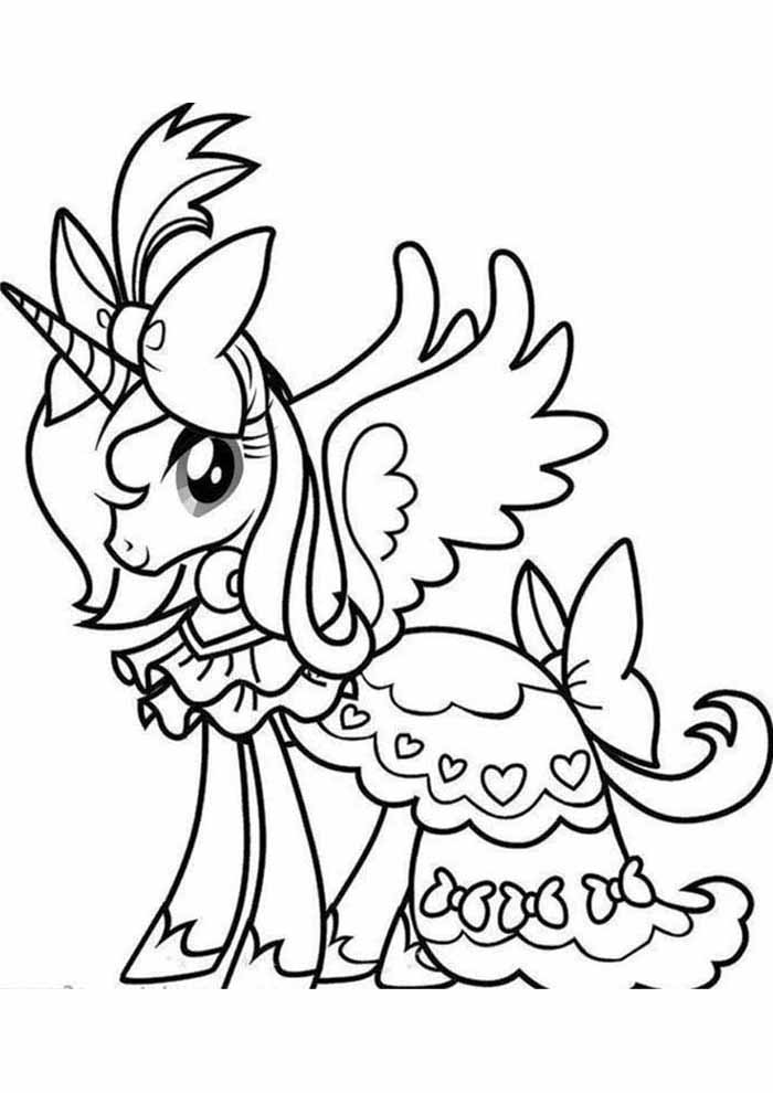 unicorn coloring page princess