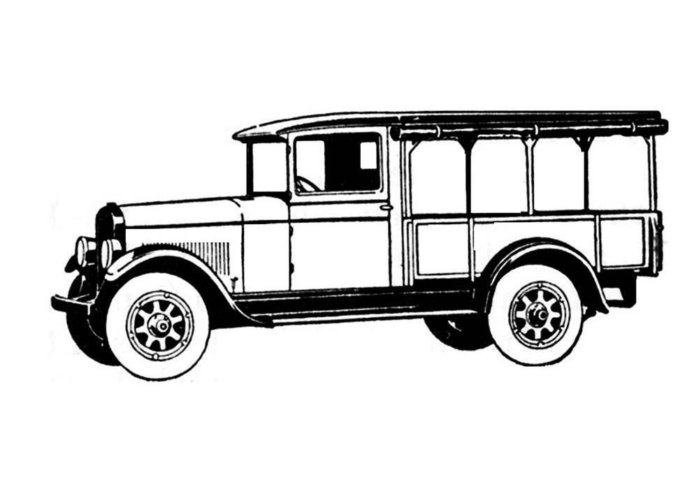 vintage car coloring page