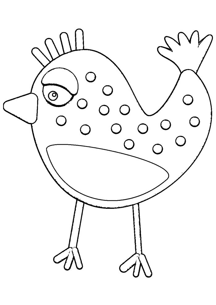 Chicken coloring page 16