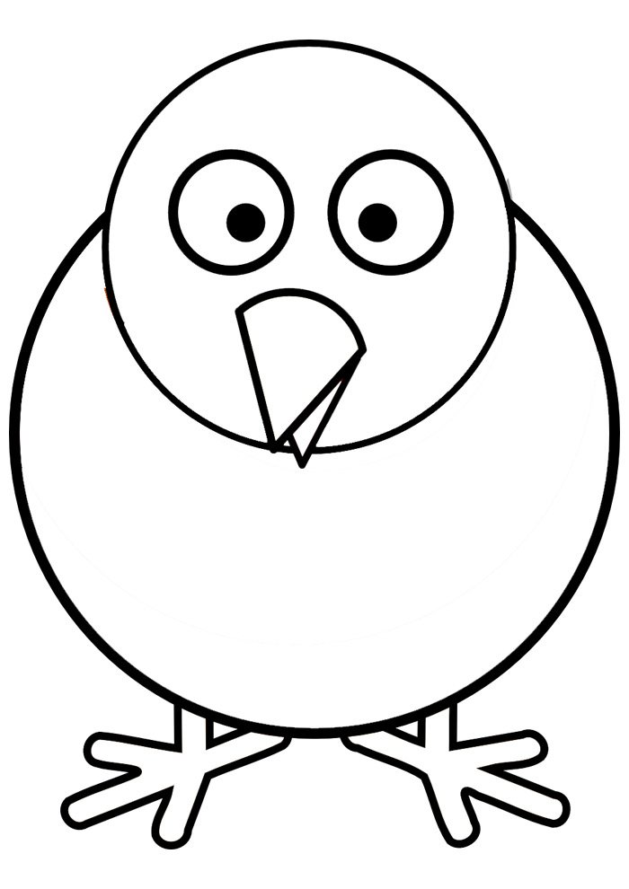 Chicken coloring page 23
