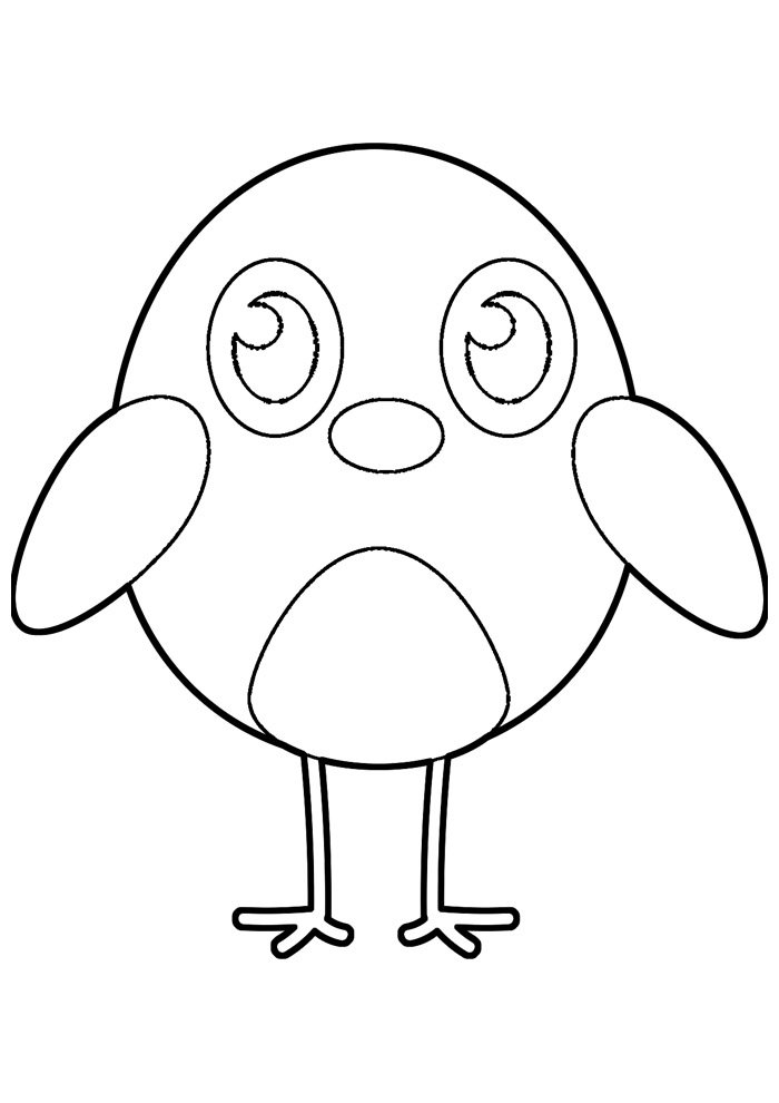 Chicken coloring page 24