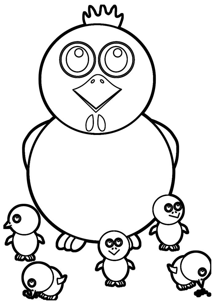 Chicken coloring page 25
