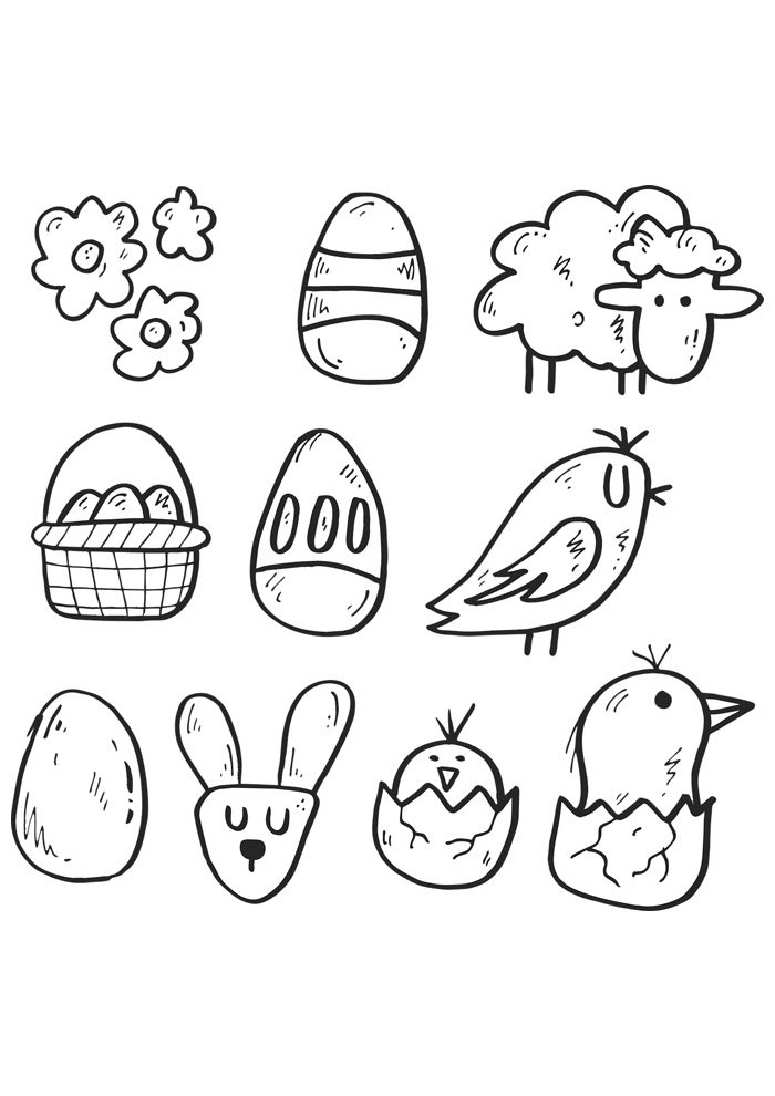 Chicken coloring page 26
