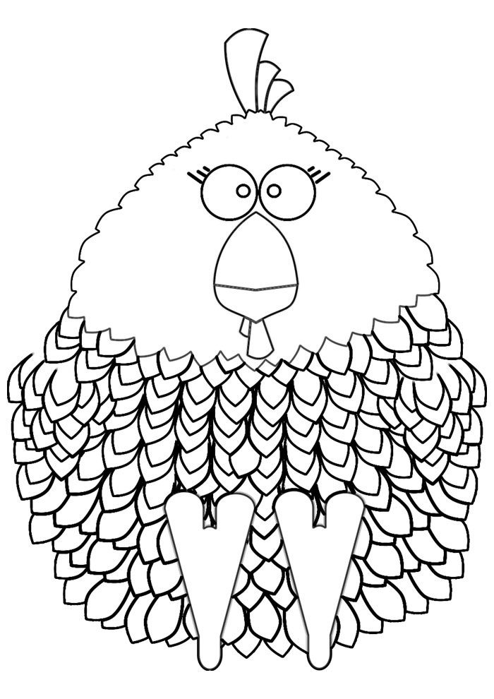 Chicken coloring page 28