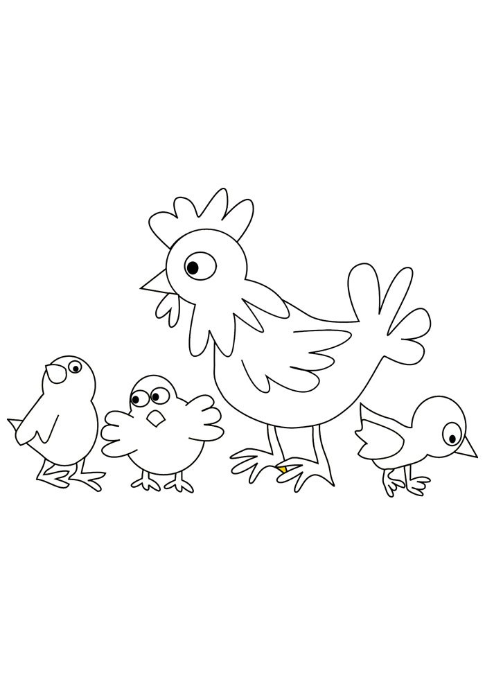 Chicken coloring page 33