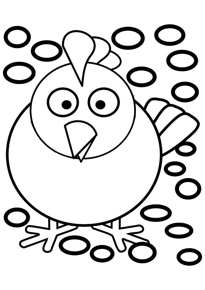 Chicken coloring page 34
