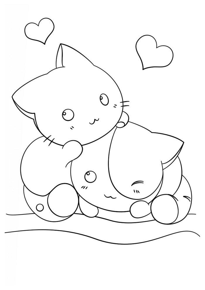 Dibujos kawaii para colorear 47