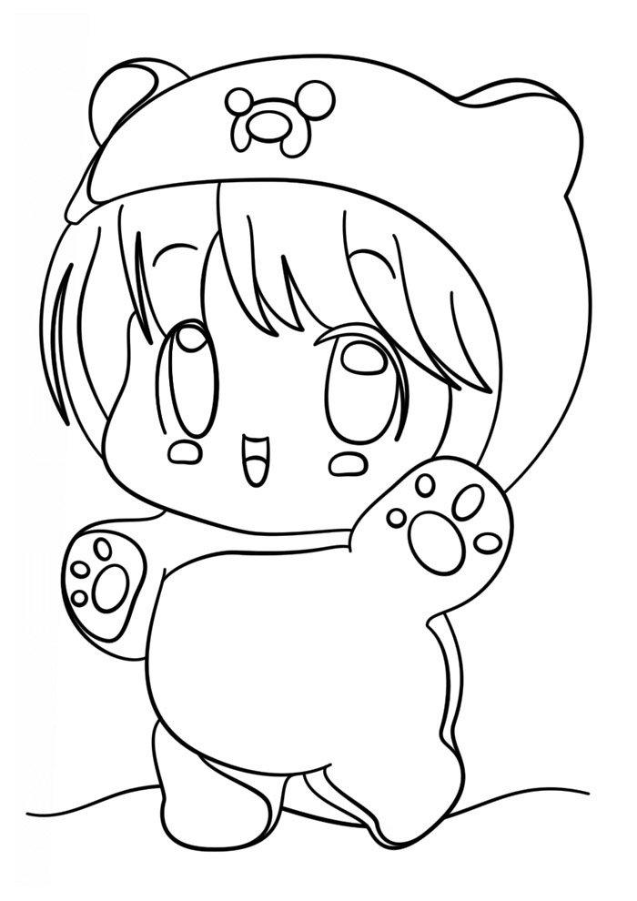 Dibujos kawaii para colorear 51