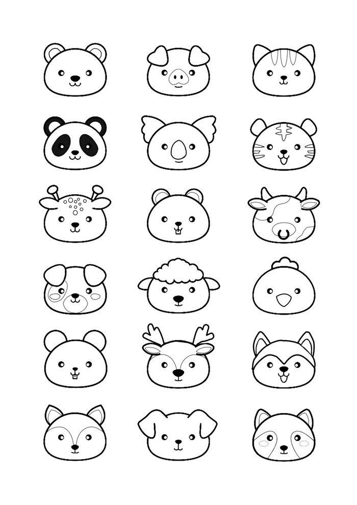 Dibujos kawaii para colorear 73