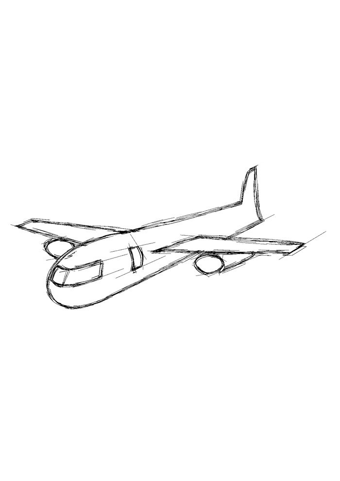 airplane coloring page 1 1