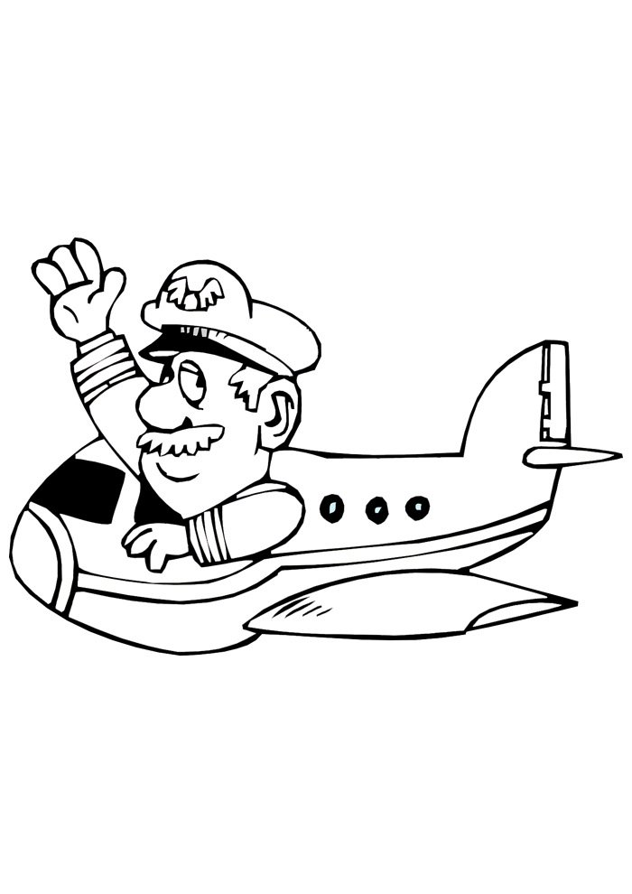 airplane coloring page 10