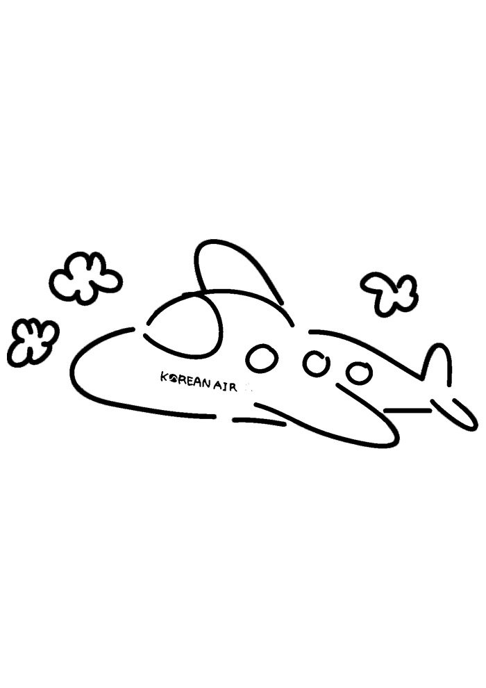 airplane coloring page 11