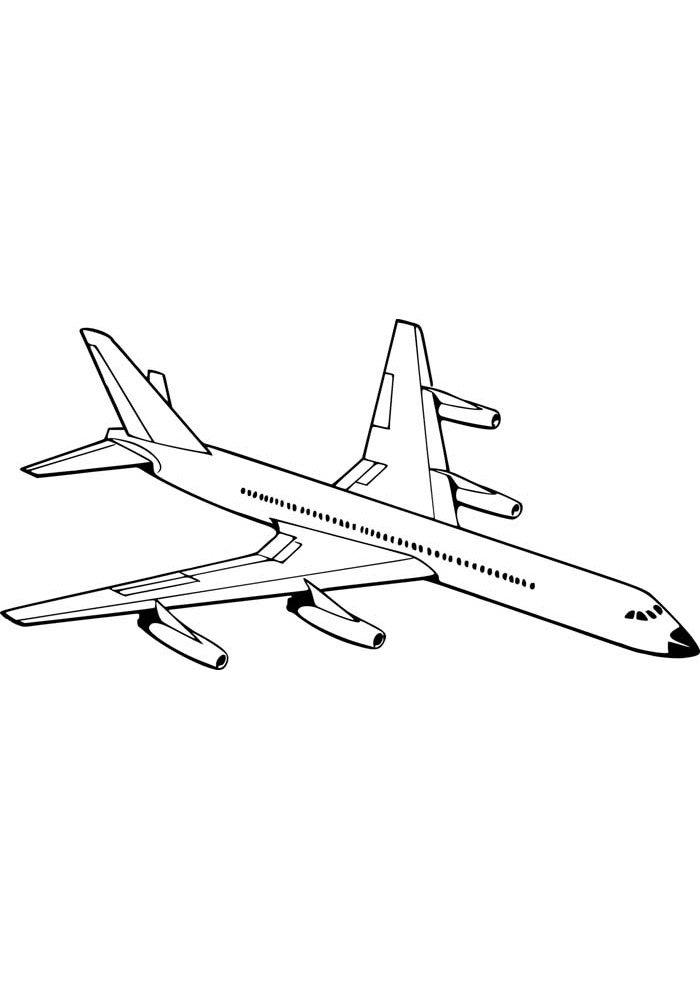 airplane coloring page 14