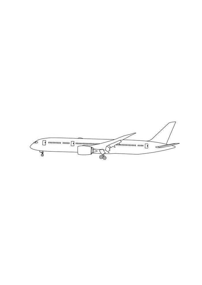 airplane coloring page 16