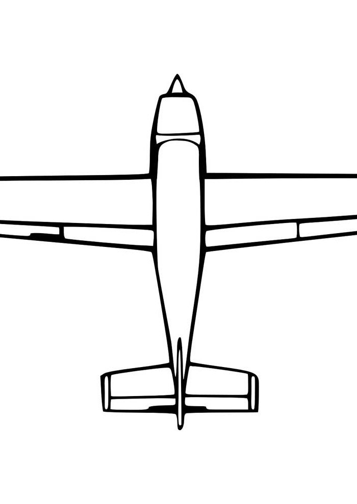 airplane coloring page 17