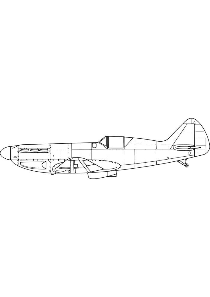 airplane coloring page 18