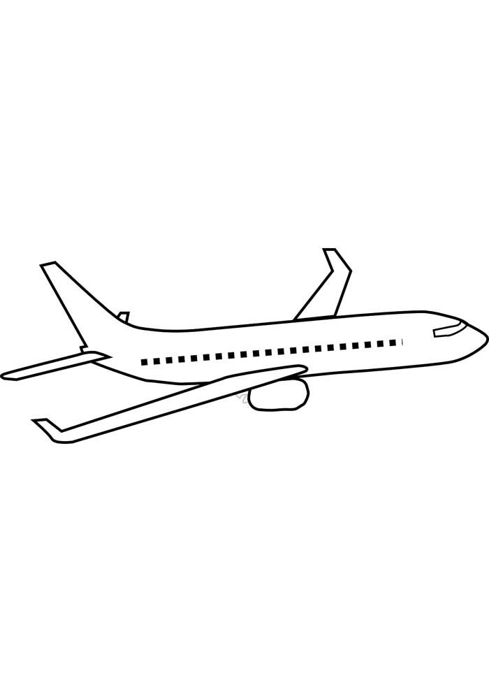 airplane coloring page 21