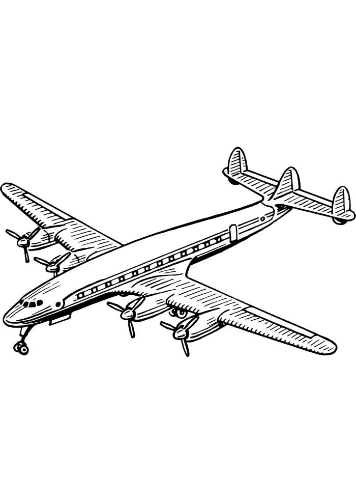 airplane coloring page 24