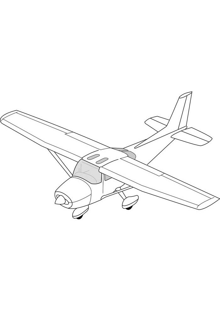 airplane coloring page 26