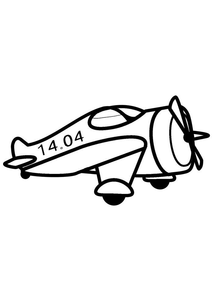 airplane coloring page 3 1