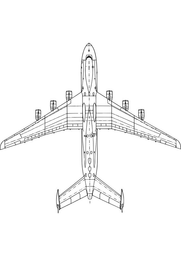 airplane coloring page 30