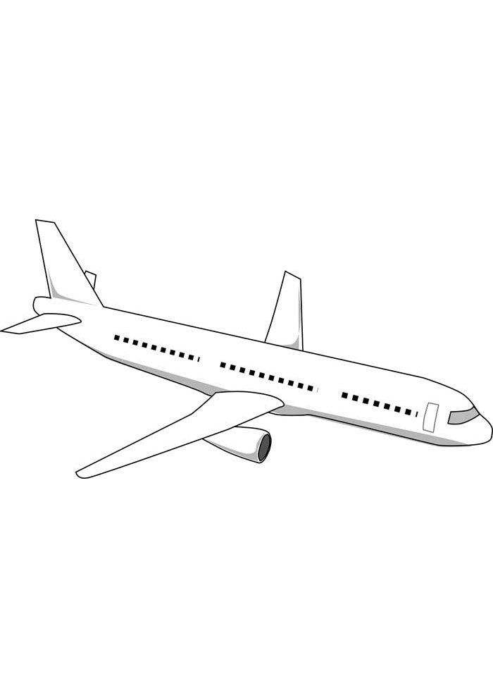 airplane coloring page 37