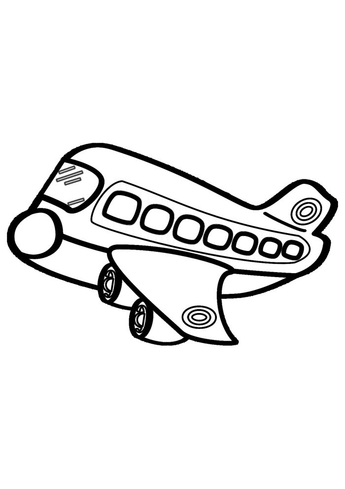 airplane coloring page 5 1