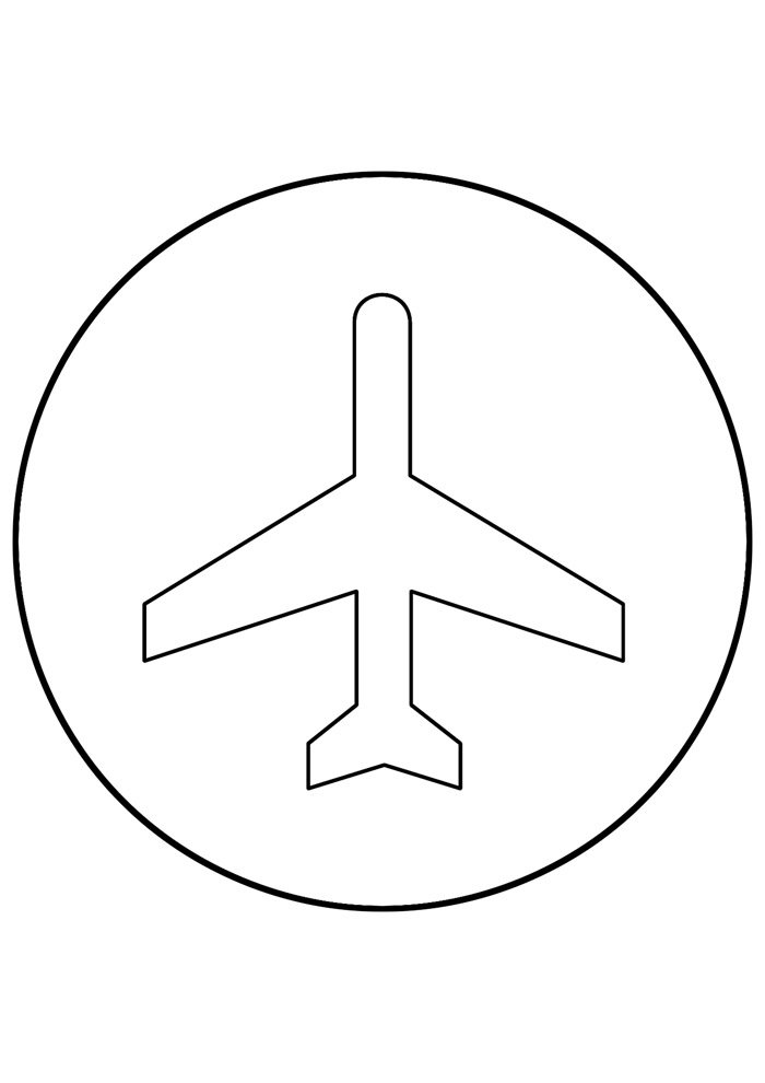airplane coloring page 7