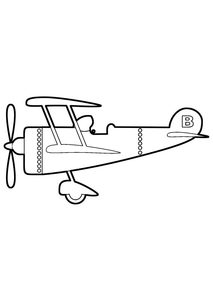 airplane coloring page 9