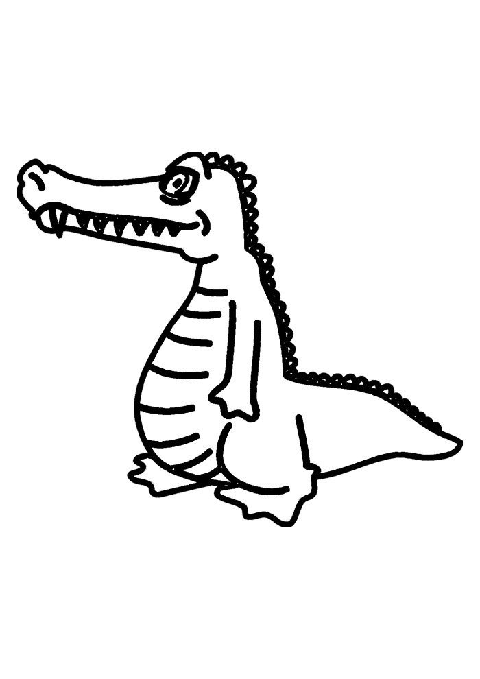 alligator coloring page 12