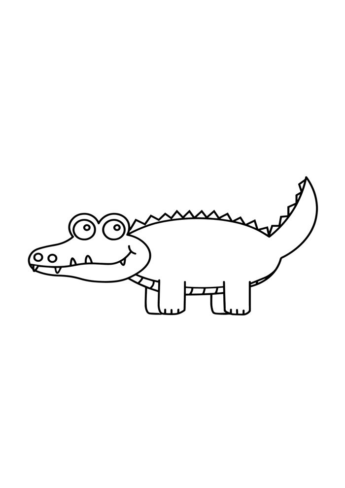 alligator coloring page 19