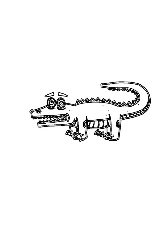 alligator coloring page 20