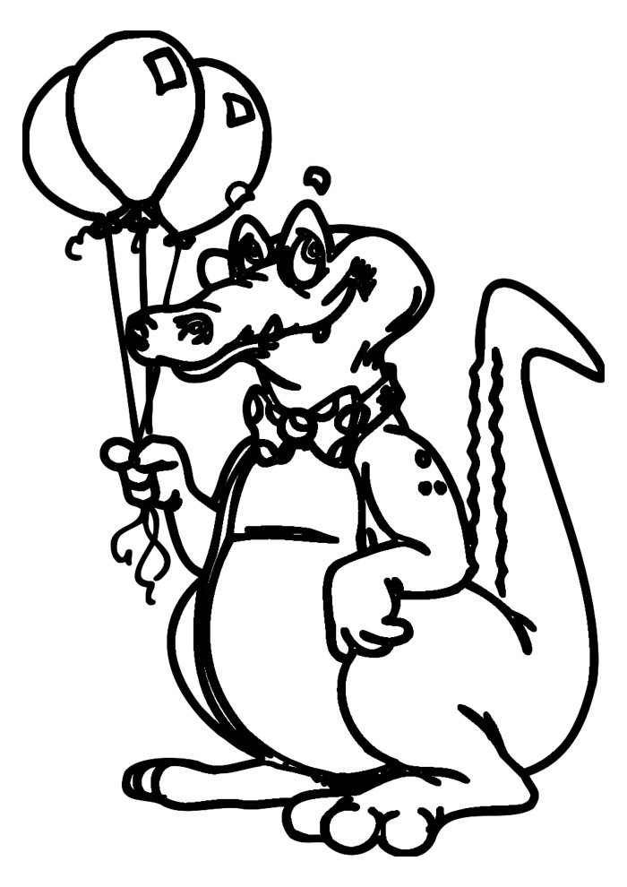 alligator coloring page 23