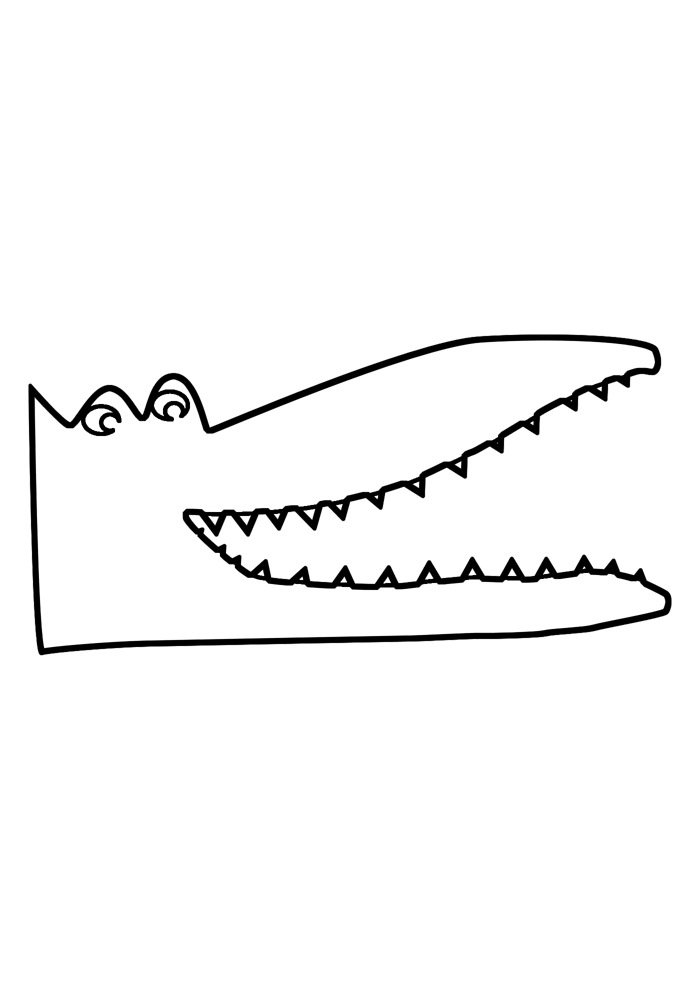 alligator coloring page 25