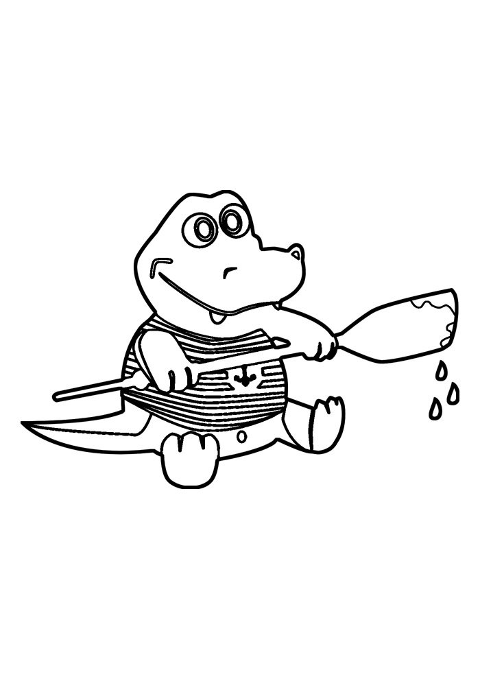 alligator coloring page 27