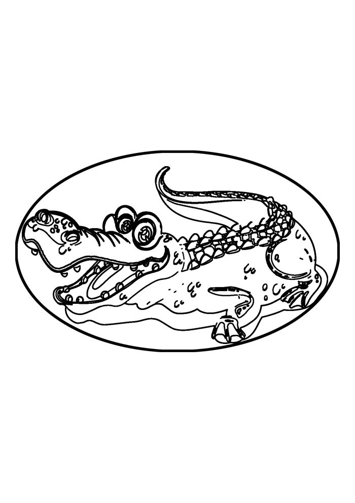 alligator coloring page 30