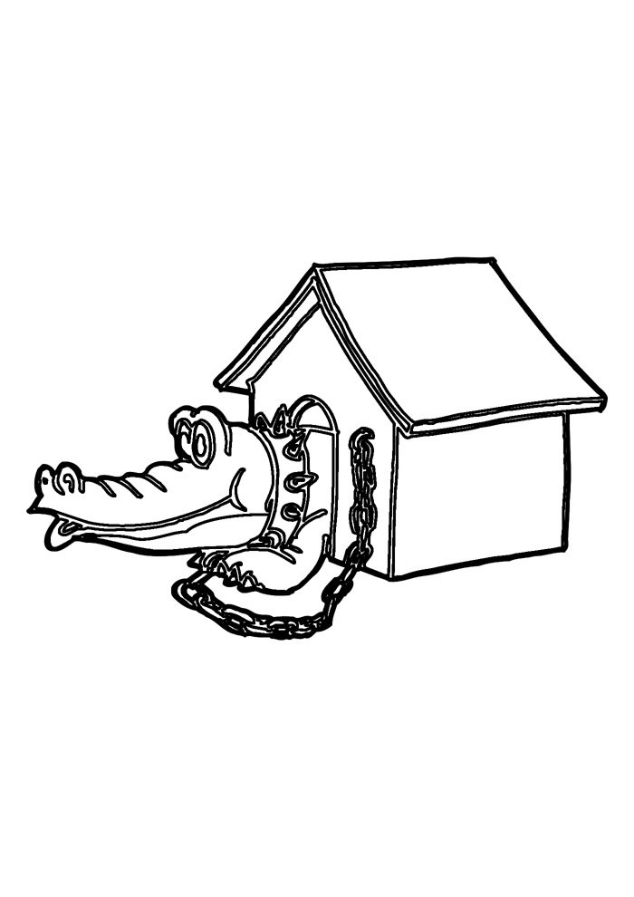alligator coloring page 4