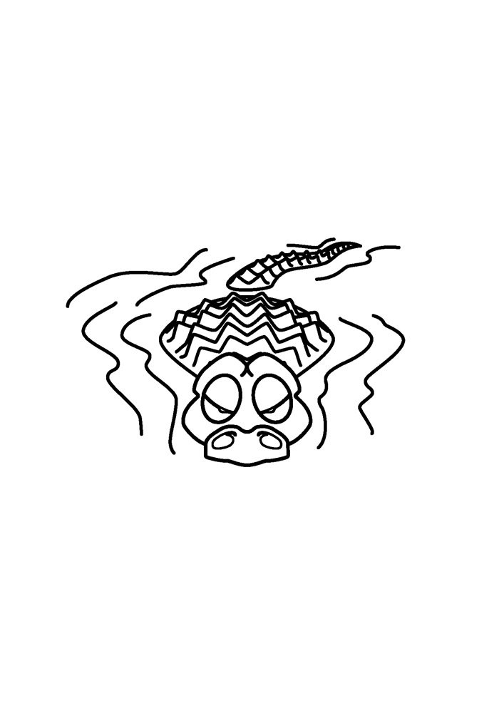 alligator coloring page 40