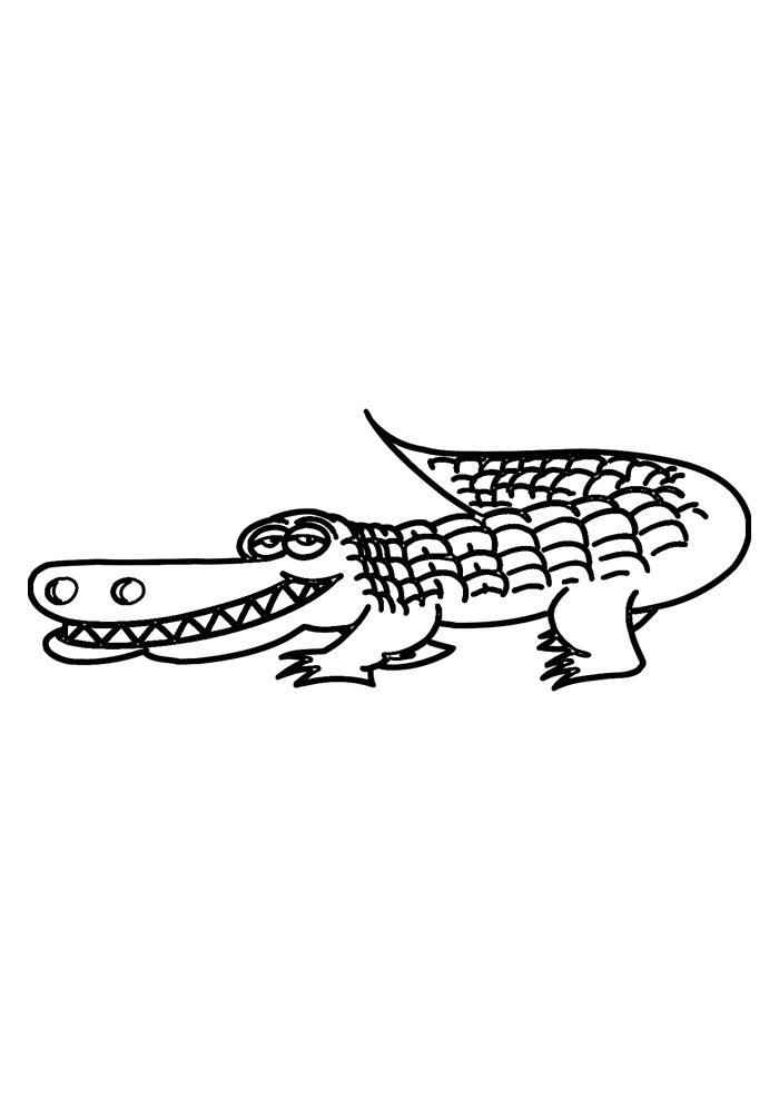 alligator coloring page 9