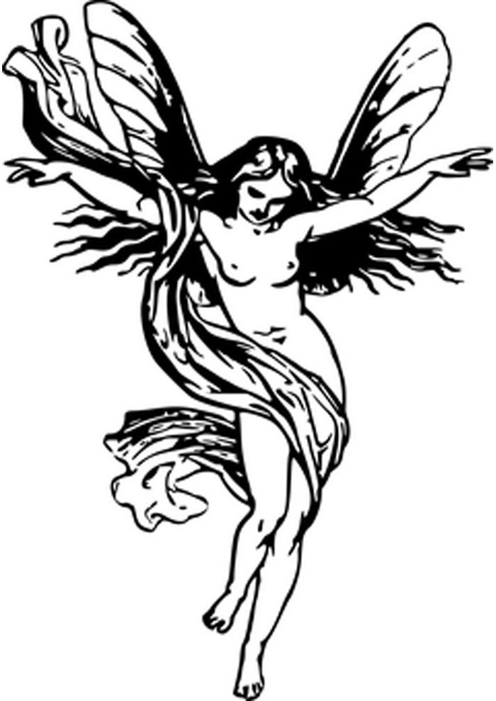 angel coloring page beautiful