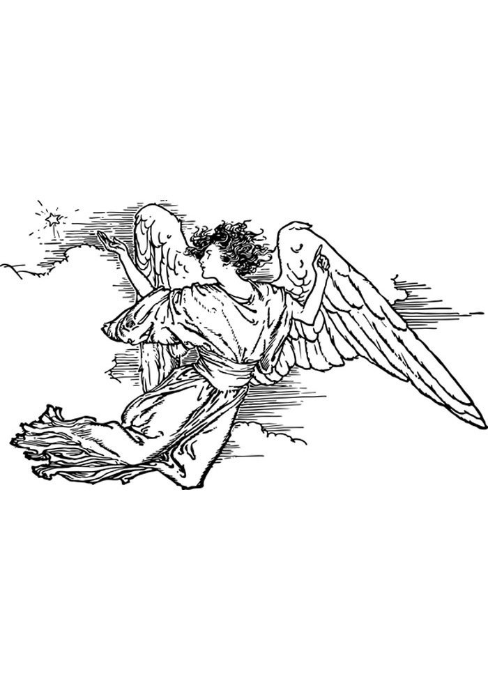 angel coloring page image