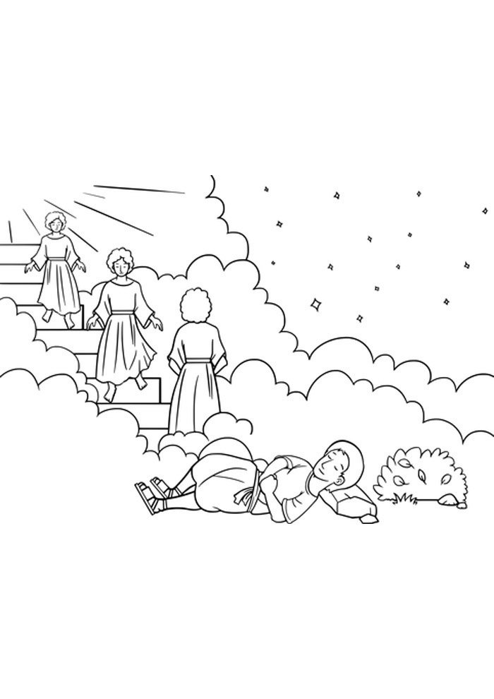 angel coloring page jacob