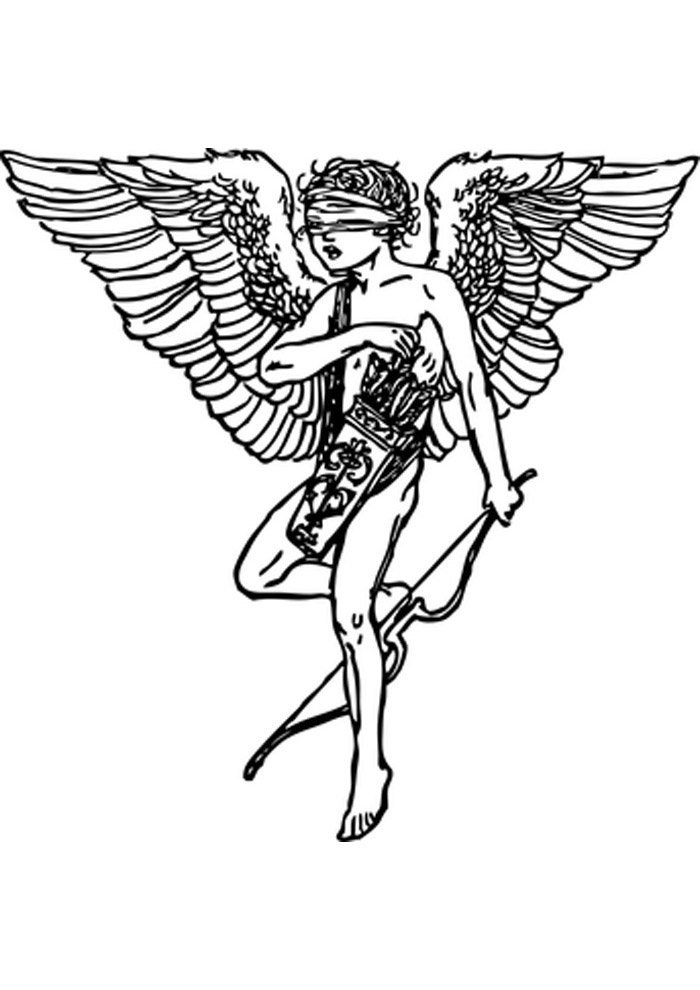angel coloring page playing