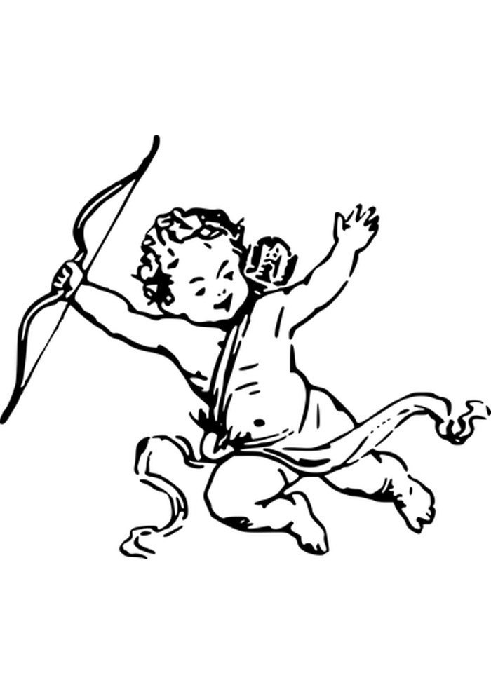 angel cupid coloring page