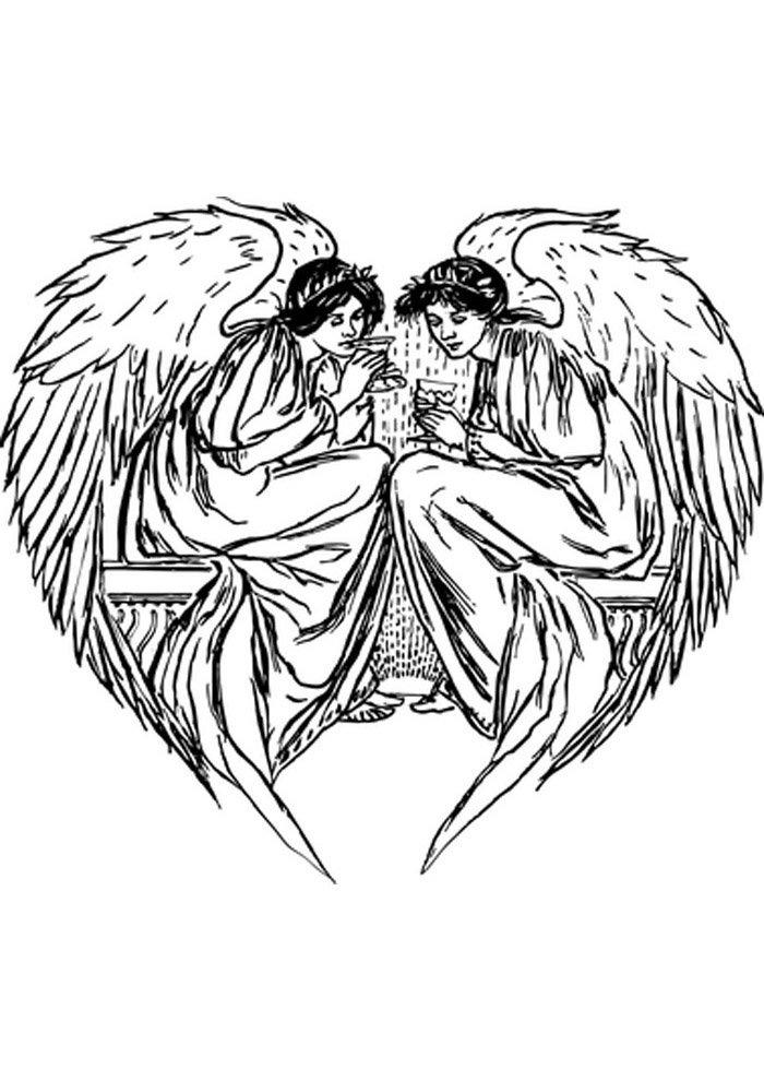 angel para colorear 18