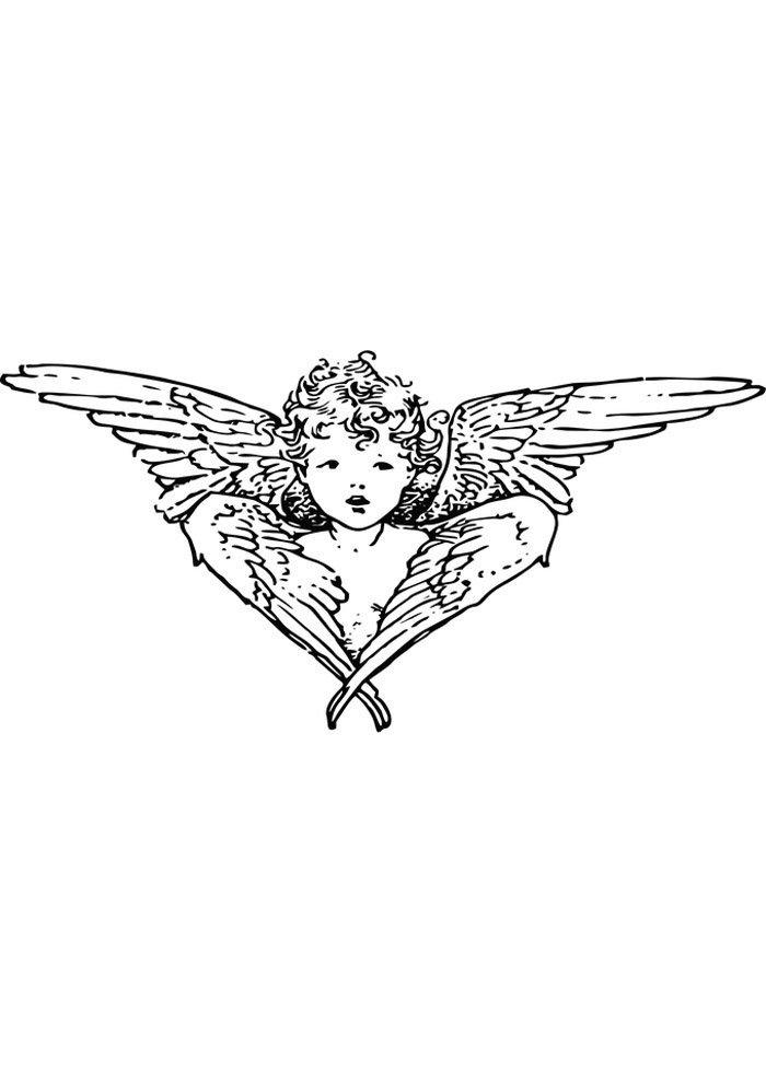 angel para colorear 22