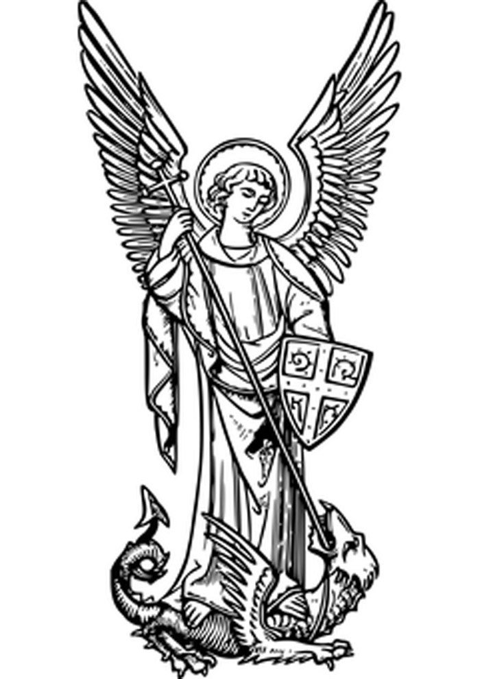 angel raphael coloring page