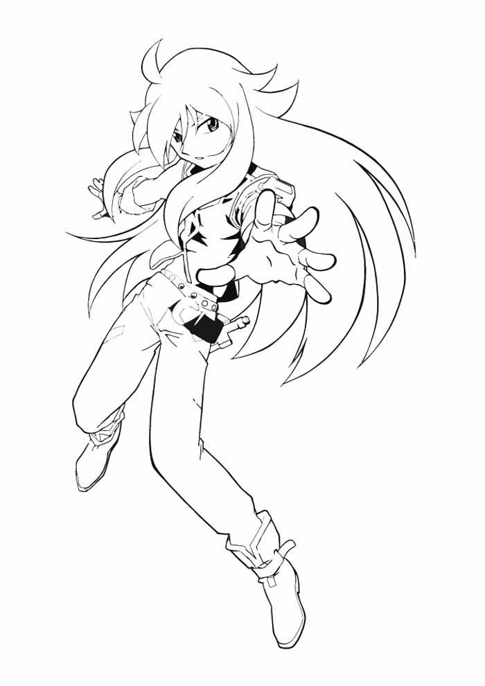 anime beyblade coloring page
