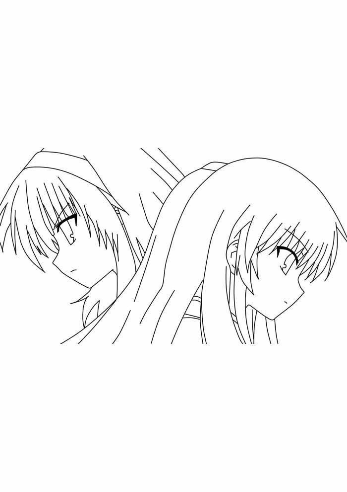 anime coloring page 1