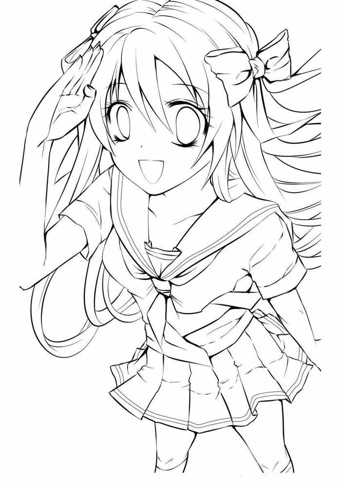 anime coloring page 10
